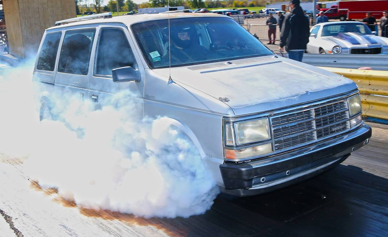 Worlds Fastest 4 Cylinder Dodge Caravan Equipped With Tc Traction